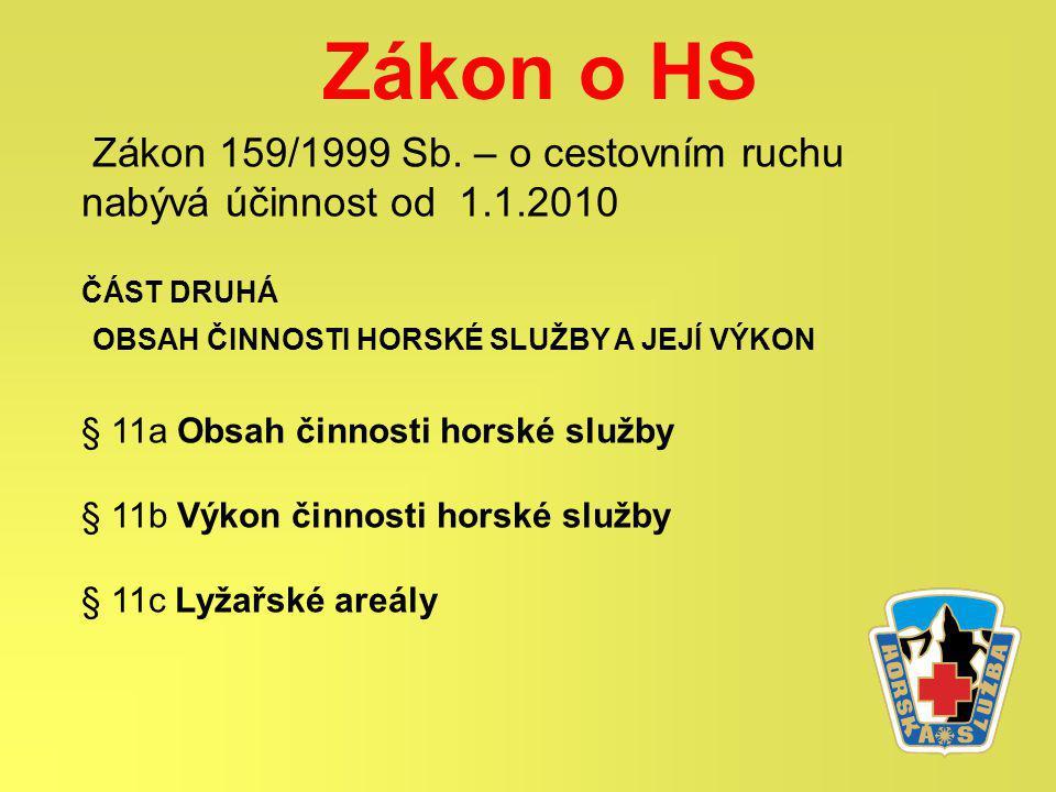 Zákon o HS Zákon 159/1999 Sb.