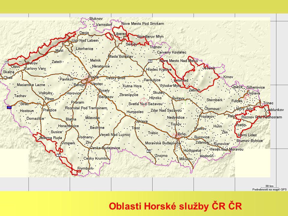 Oblasti Horské služby ČR ČR