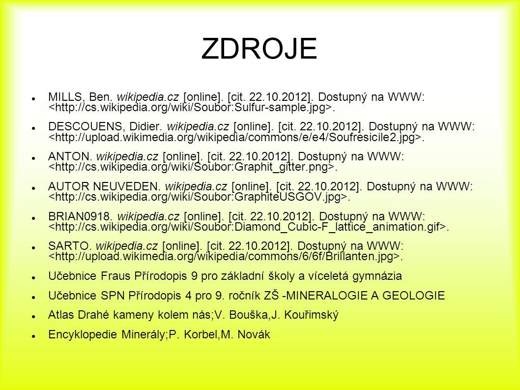 ZDROJE MILLS, Ben. wikipedia.cz [online]. [cit. 22.10.2012]. Dostupný na WWW:. DESCOUENS, Didier. wikipedia.cz [online]. [cit. 22.10.2012]. Dostupný n