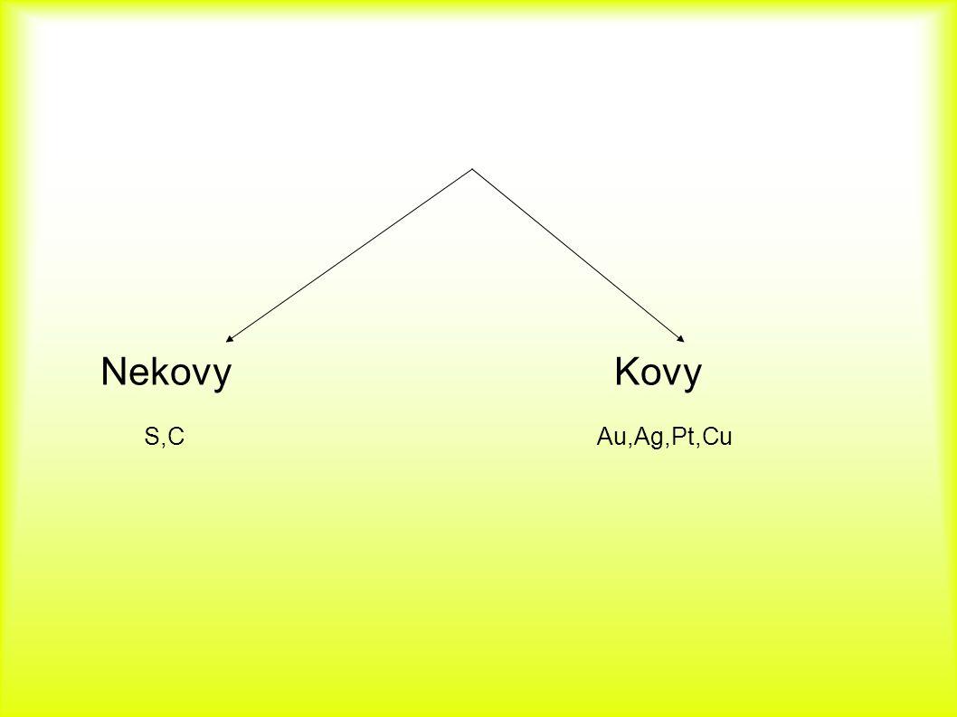 Nekovy Kovy S,C Au,Ag,Pt,Cu