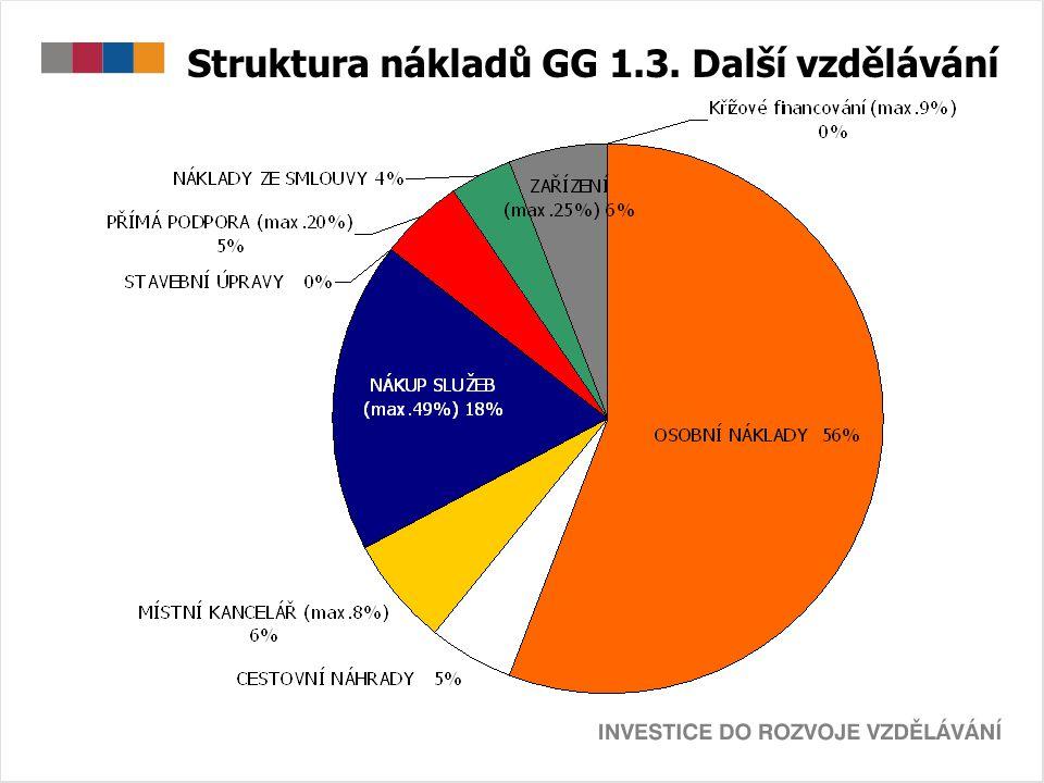 Struktura nákladů GG 1.3. Další vzdělávání