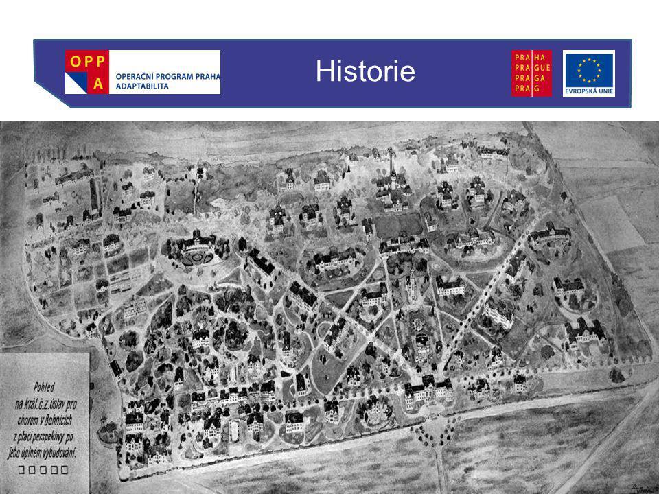 Specifická historie PL Bohnice –Plány a stavba v Rakousku-Uhersku, v té době progresivní Kontext doby / život organizace Historie
