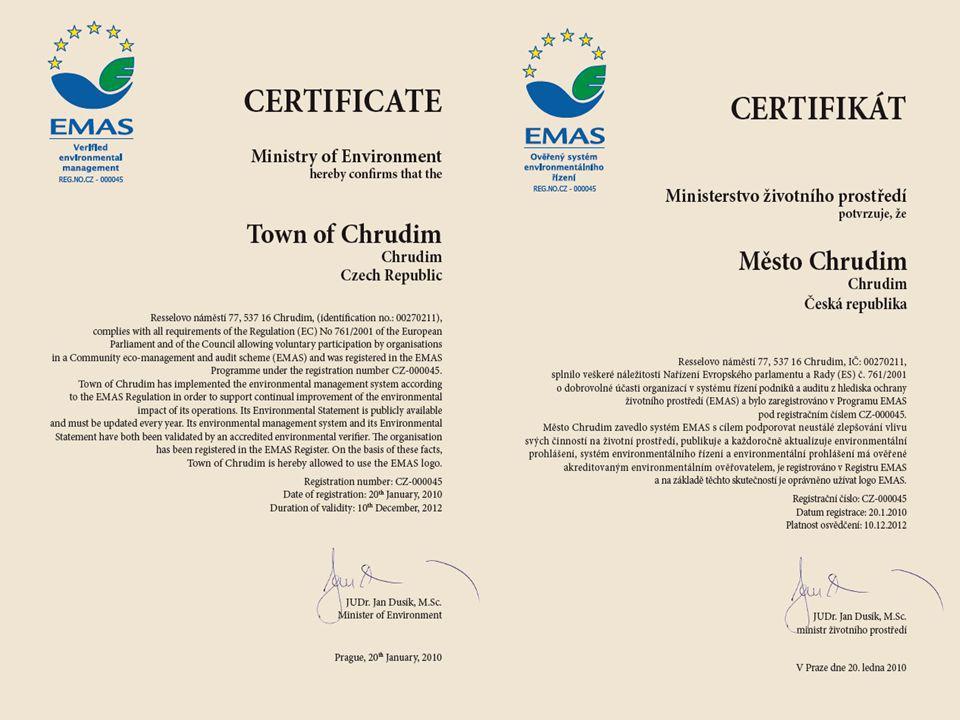 Důležité upozornění  pokud má organizace pouze ověřený systém EMAS od ověřovatele s akreditací, není registrována v p rogramu EMAS,  registraci v p