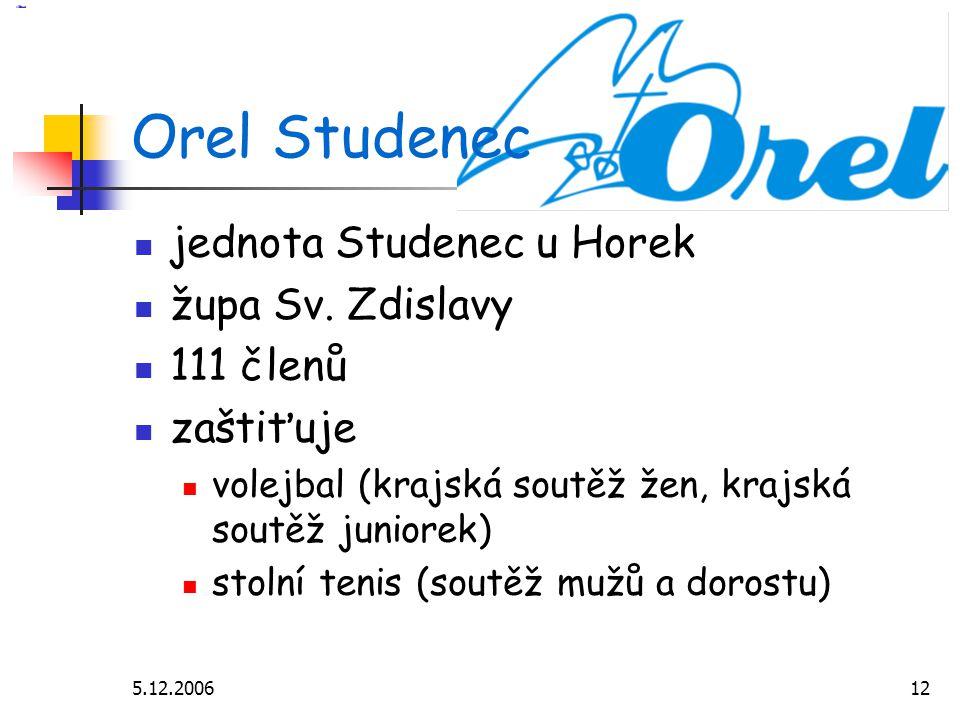 5.12.200612 Orel Studenec jednota Studenec u Horek župa Sv.