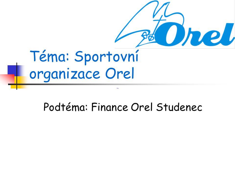 Téma: Sportovní organizace Orel Podtéma: Finance Orel Studenec