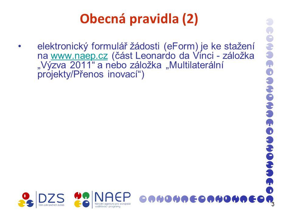 4 Formální náležitosti (1) dodržen termín pro podání žádosti: 28.