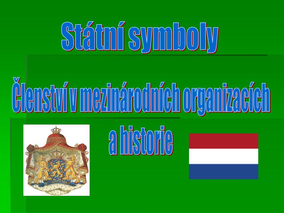 Nizozemí je členem několik mezinárodních organizacích: - Ekonomická unie mezi Belgii,Lucemburskem a Nizozemskem(BENELUX) hospodářská unie mezi Belgií,Nizozemí a Lucemburskem, vstup v roce 1948 -Evropská unie(EU) - vstup v roce 1952 -Severoatlantická aliance(NATO) – vojenská organizace, vstup v roce 1949