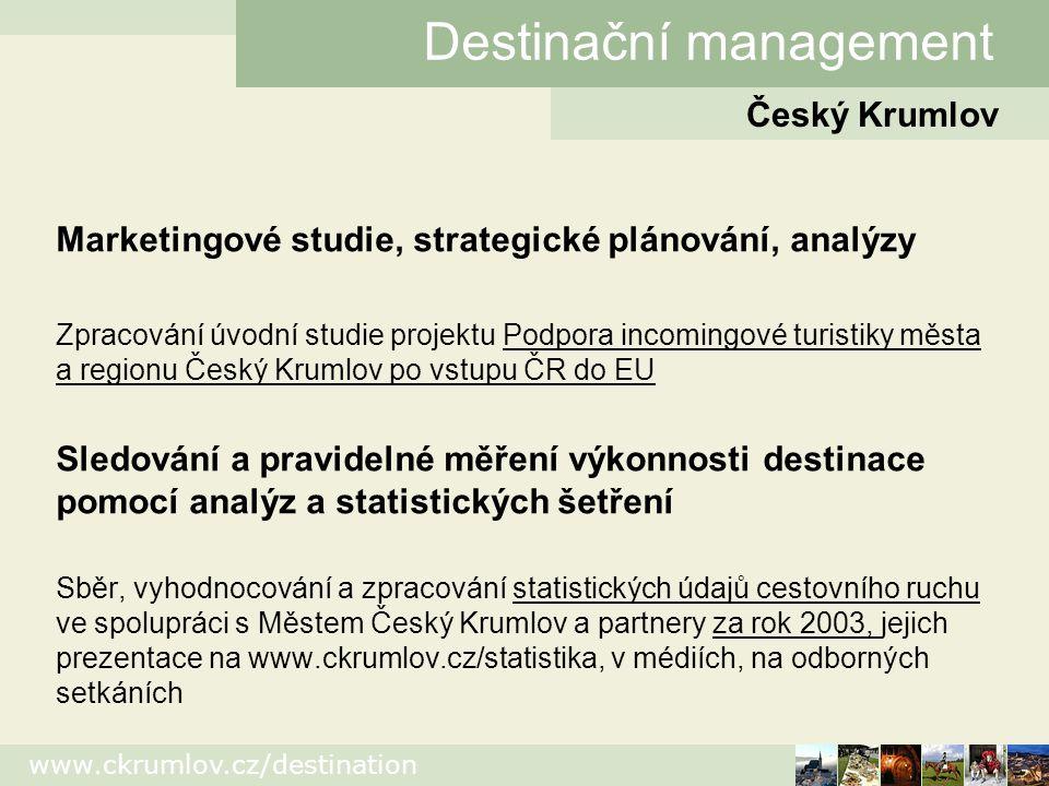 www.ckrumlov.cz/destination Organizace seminářů, profesních setkání 3.