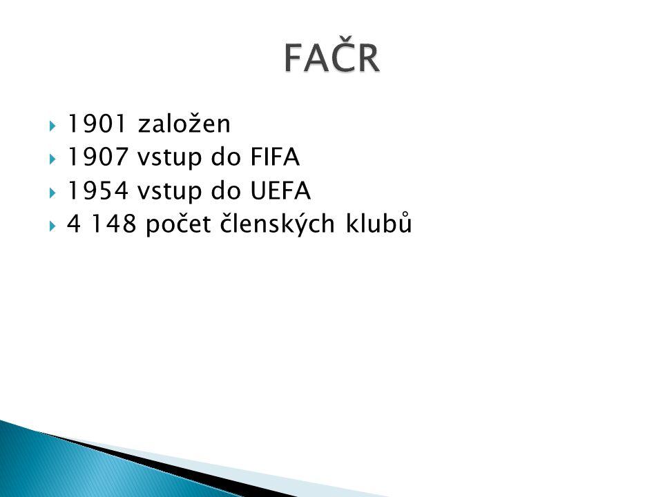  1901 založen  1907 vstup do FIFA  1954 vstup do UEFA  4 148 počet členských klubů