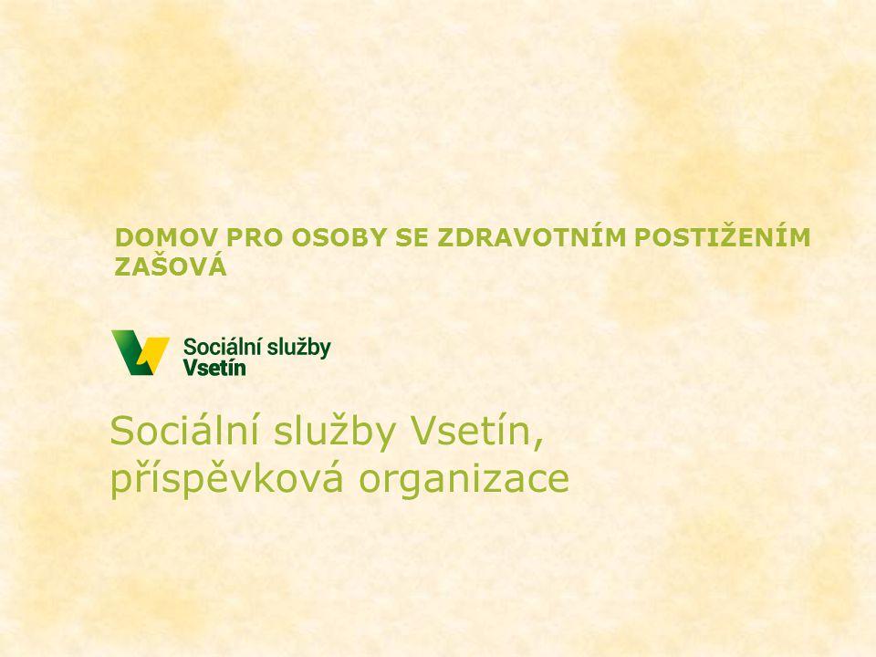 Sociální služby Vsetín, příspěvková organizace DOMOV PRO OSOBY SE ZDRAVOTNÍM POSTIŽENÍM ZAŠOVÁ
