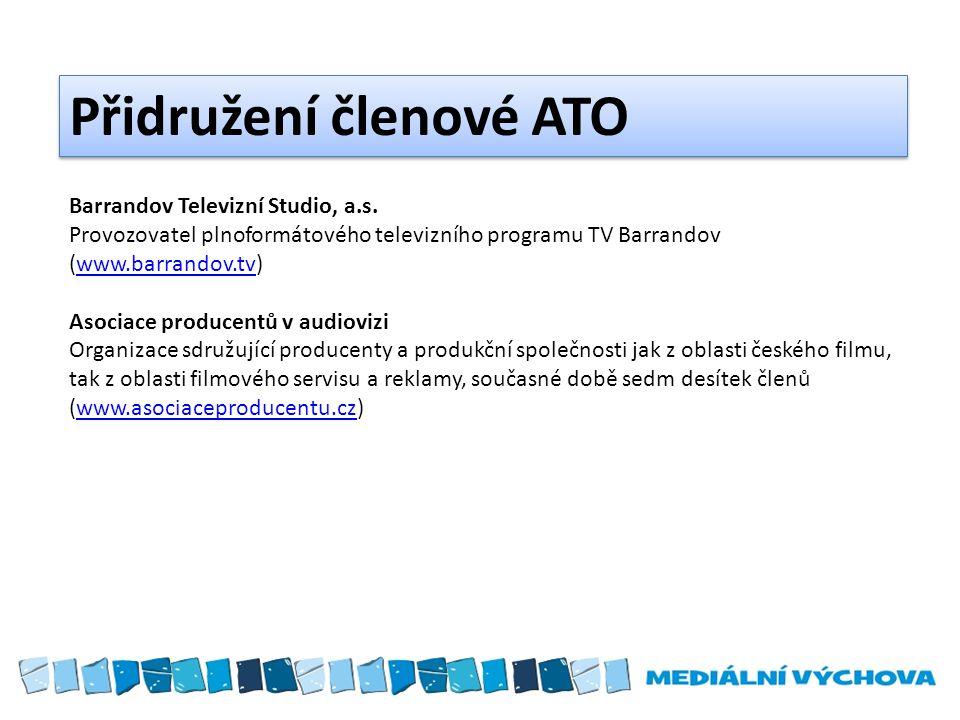 Přidružení členové ATO Barrandov Televizní Studio, a.s.