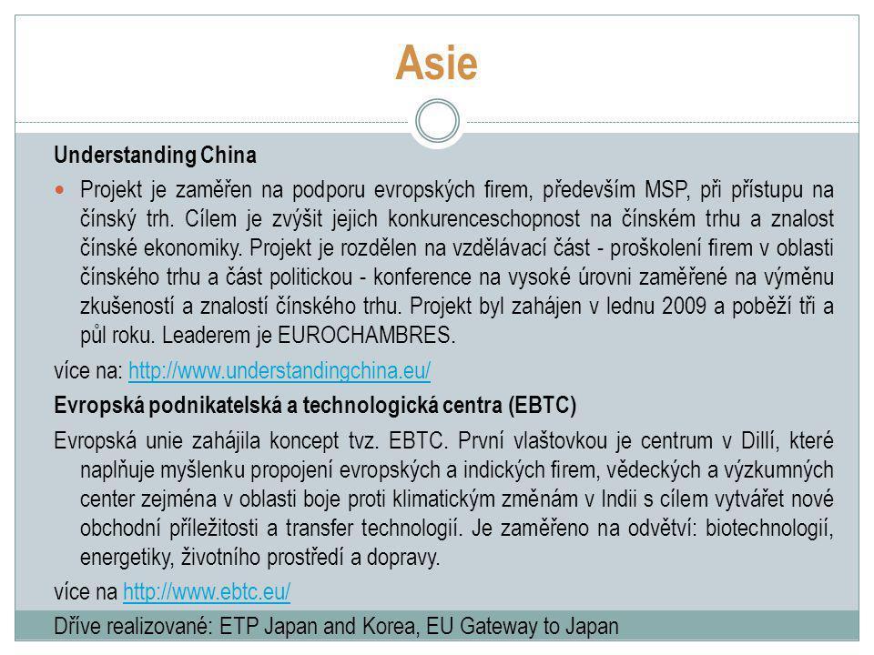 Asie Understanding China Projekt je zaměřen na podporu evropských firem, především MSP, při přístupu na čínský trh.