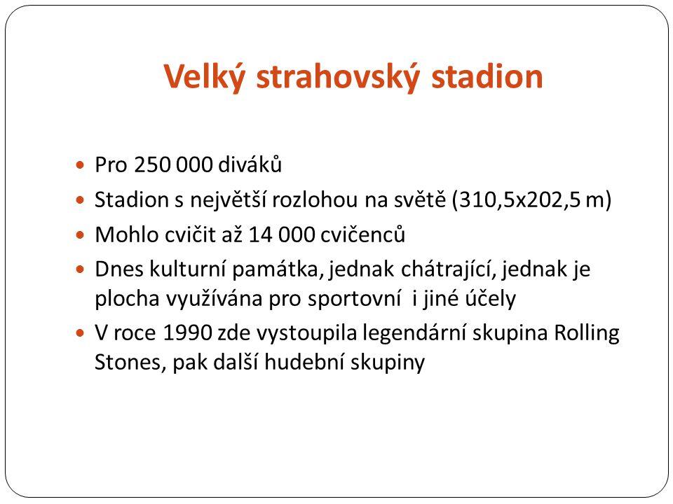 Zdroje citací Text http://cs.wikipedia.org/wiki/Sokol_(spolek) http://cs.wikipedia.org/wiki/Všesokolský_slet http://cs.wikipedia.org/wiki/Spartakiáda http://cs.wikipedia.org/wiki/Velký_strahovský_stadion