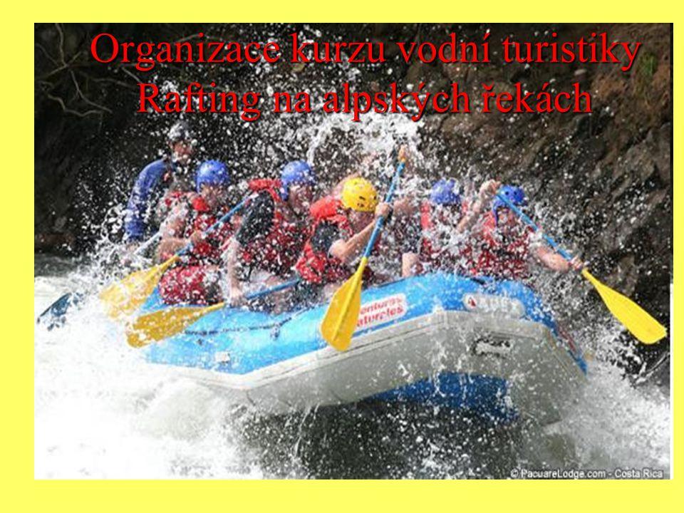 Organizace kurzu vodní turistiky Rafting na alpských řekách