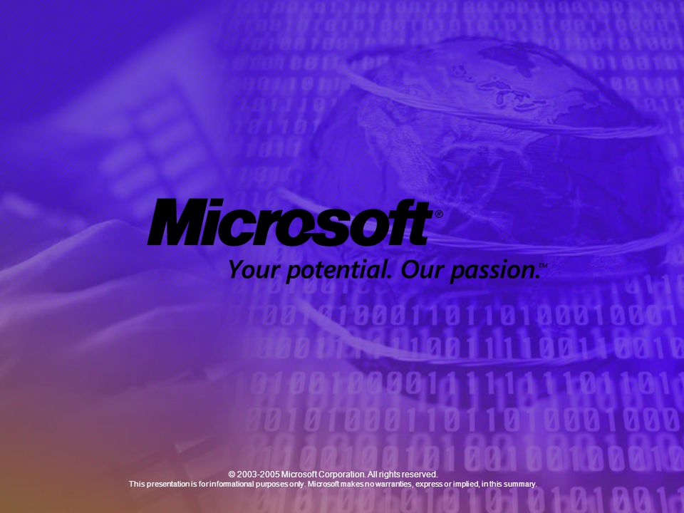 © 2003-2005 Microsoft Corporation. All rights reserved.