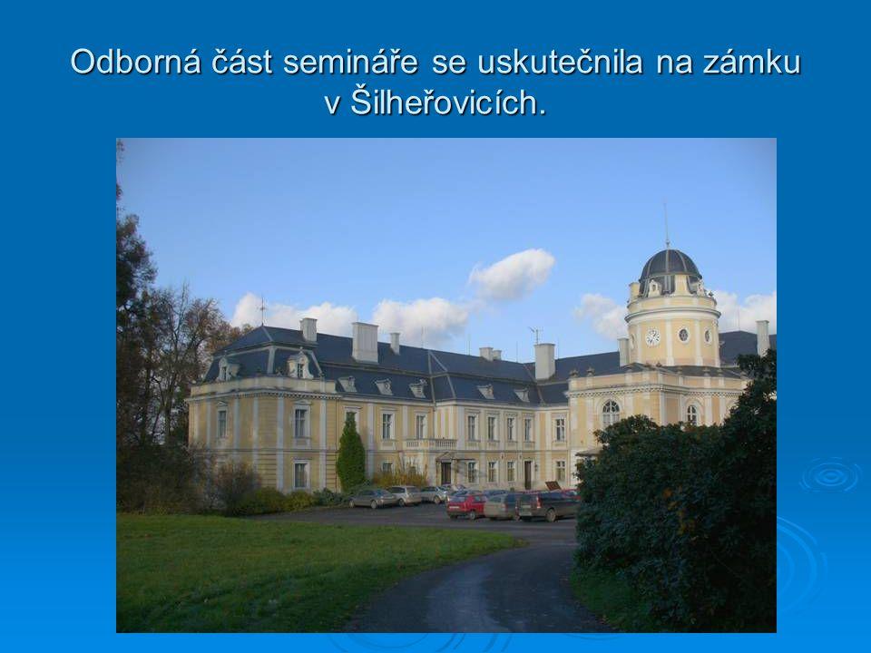 Odborná část semináře se uskutečnila na zámku v Šilheřovicích.