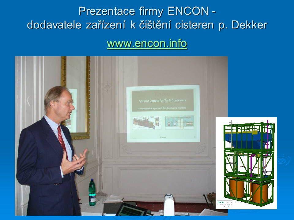 Prezentace firmy ENCON - dodavatele zařízení k čištění cisteren p. Dekker www.encon.info www.encon.info