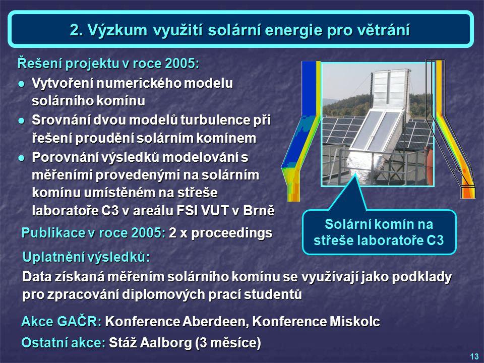 Akce GAČR: Konference Aberdeen, Konference Miskolc Ostatní akce: Stáž Aalborg (3 měsíce) Téma 2 a KE - Ing.
