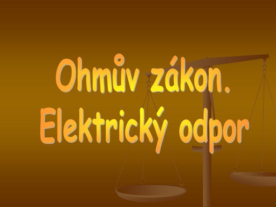 Jak závisí elektrický proud, který prochází vodičem, na elektrickém napětí mezi jeho konci.