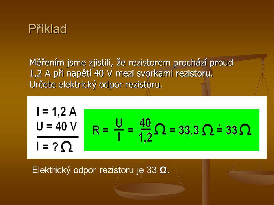 Příklad 2 Elektrický odpor cívky navinuté z měděného drátu je 2 Ω.