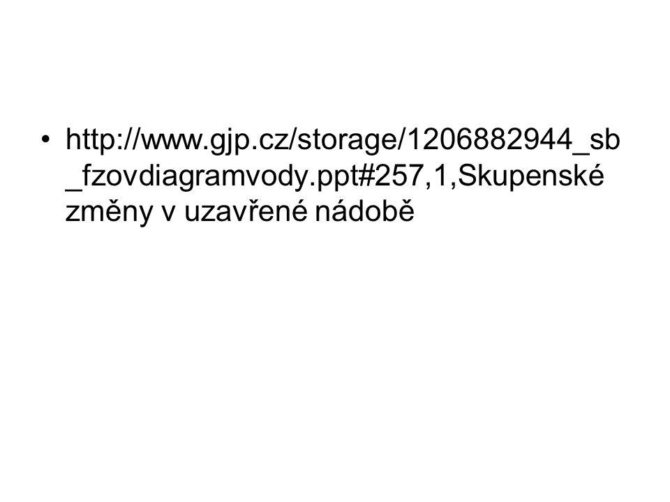 http://www.gjp.cz/storage/1206882944_sb _fzovdiagramvody.ppt#257,1,Skupenské změny v uzavřené nádobě