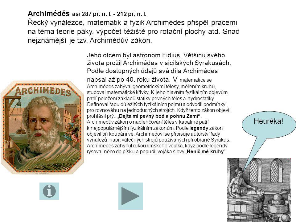 Použité prameny: duben 2011 http://www.zscholtice.cz/svs/lacko/fyzika_7roc/ucivo.htmlhttp://www.zscholtice.cz/svs/lacko/fyzika_7roc/ucivo.html, http://www.sborovna.cz/kniznica.php?action=show_version&id=57440&hit =56616 http://www.sborovna.cz/kniznica.php?action=show_version&id=57440&hit =56616 http://archimeduvzakon.chytrak.cz/paragraph.html Dětská encyklopedie vědy a techniky, Craigová, Rosney Fyzika, učebnice pro ZŠ avíceletá gymnázia, Fraus