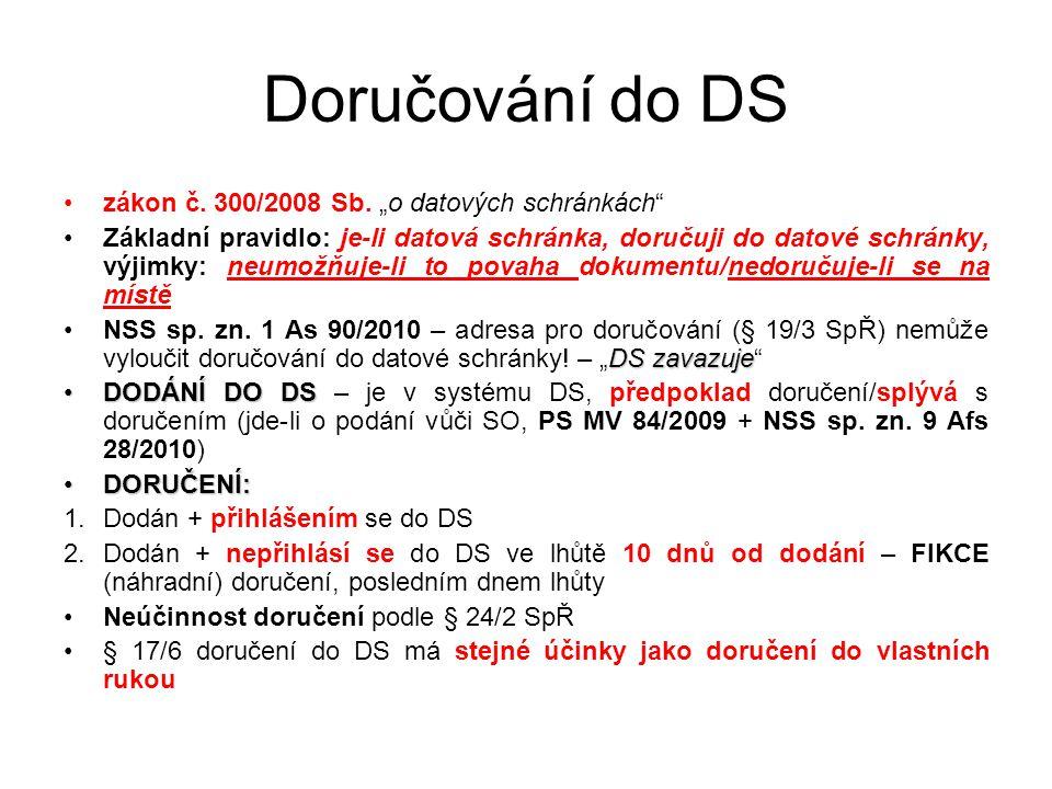 Doručování do DS zákon č.300/2008 Sb.