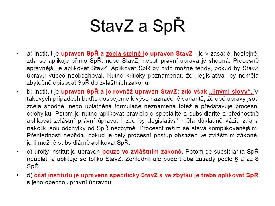 """Struktura SpŘ 8 částí (184 ustanovení) Je lex generalis, nemá vliv """"není-li stanoveno jinak Odkazy na """"přiměřené a """"obdobné použití ostatních částí SpŘ Č."""