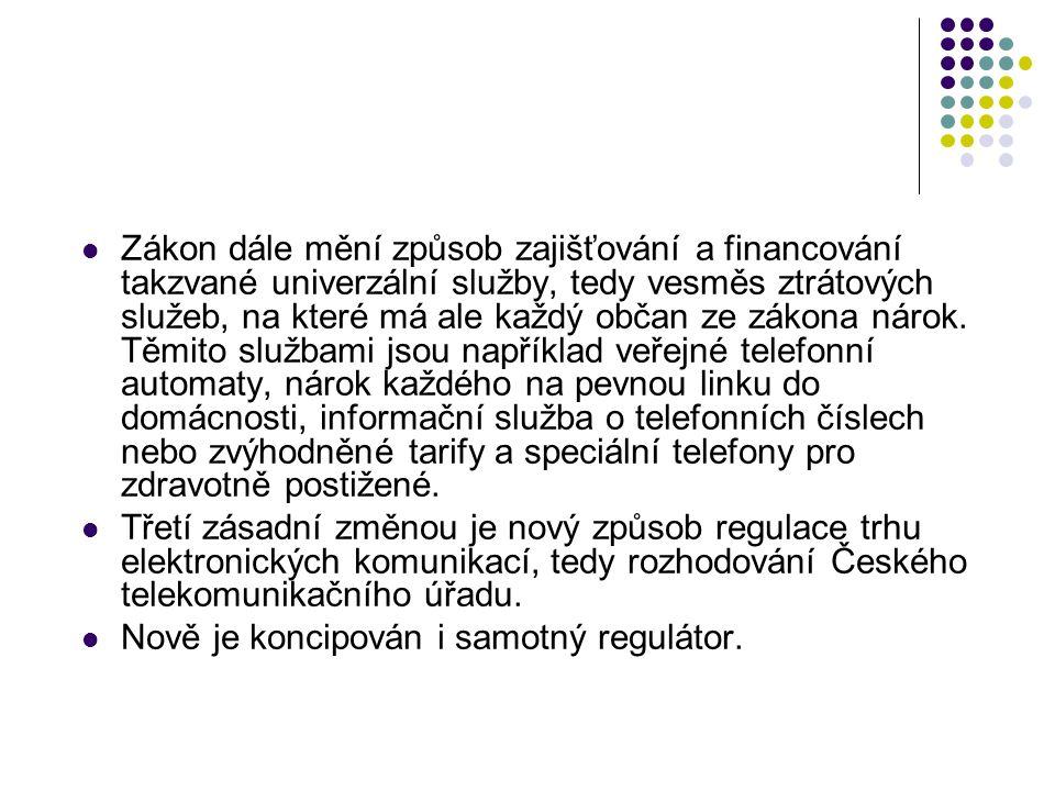 Slučitelnost s právními akty EU Zákon transponuje do právního řádu následující závazné právní akty EU Směrnice Evropského parlamentu a Rady 2002/19/ES ze dne 7.