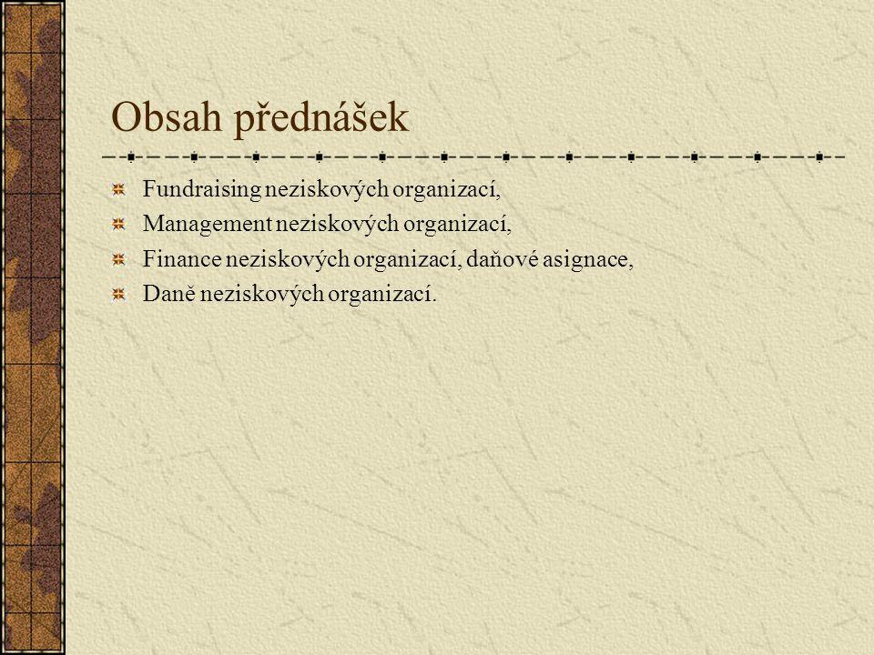 Vymezení pojmu nezisková organizace, Národní hospodářství, sektory a jejich zákonitosti, Pestoffův trojúhelník, Funkce neziskových organizací ve společnosti, Stát a NS, Spolupráce NS, ZS a STÁTU, Osnova přednášky č.1