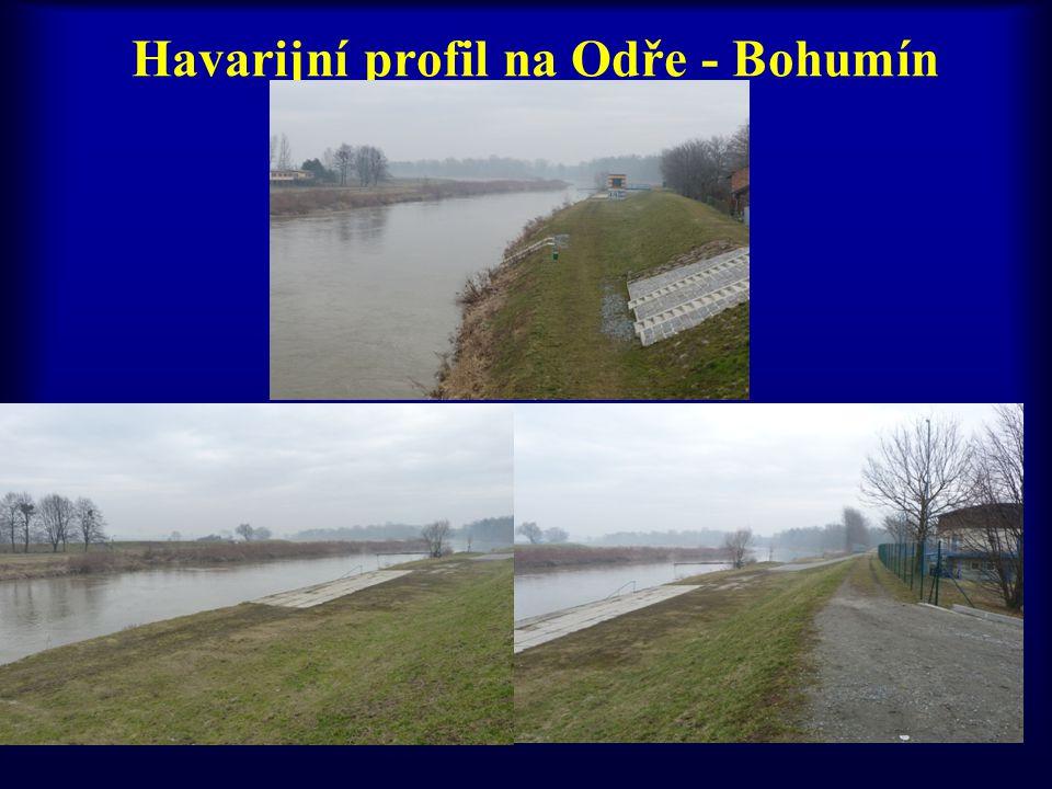Havarijní profil na Odře - Bohumín