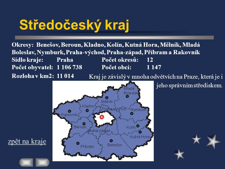 Praha Kraj je vymezený územím hlavního města Prahy Sídlo kraje:Praha Počet obyvatel:1 209 855Počet obcí:1 Rozloha v km 2 :496 zpět na kraje V Praze je