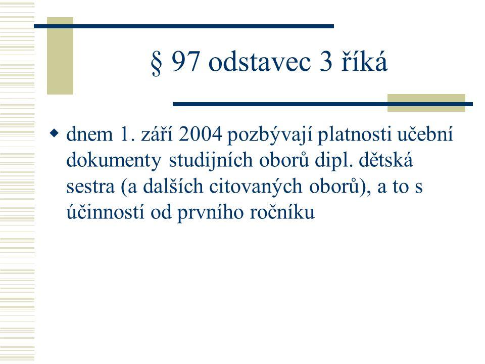 § 97 odstavec 3 říká  dnem 1.