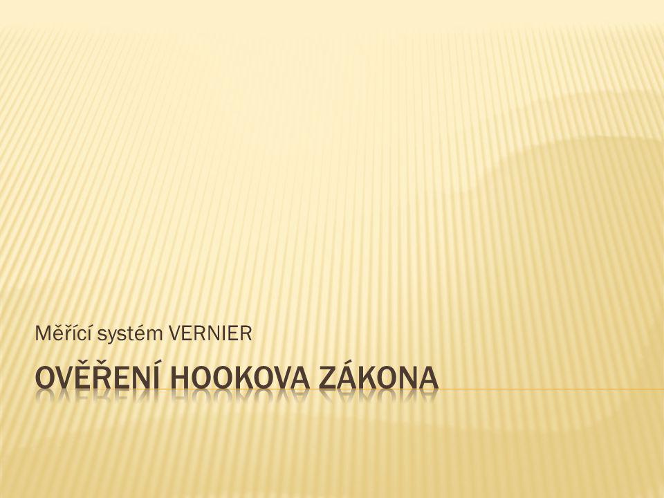 Měřící systém VERNIER