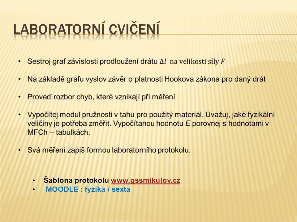Šablona protokolu www.gssmikulov.czwww.gssmikulov.cz MOODLE : fyzika / sexta