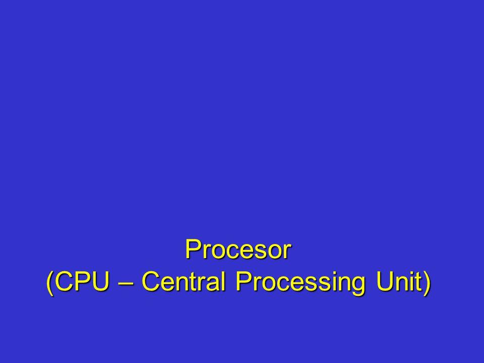 Procesor (CPU – Central Processing Unit)