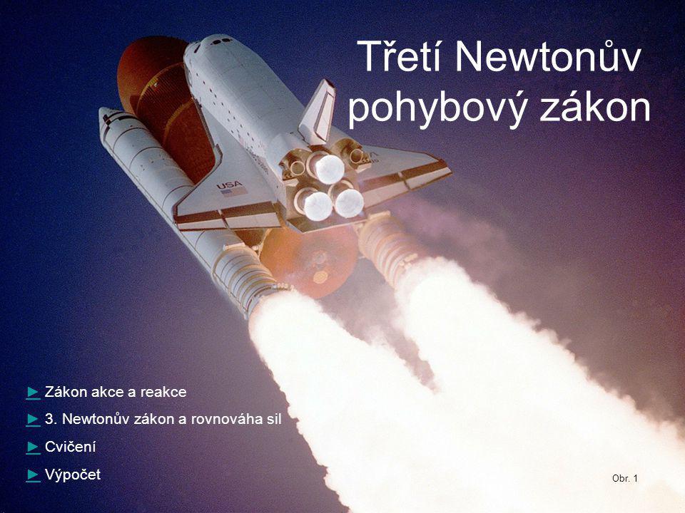 Třetí Newtonův pohybový zákon ►► Zákon akce a reakce ►► 3.