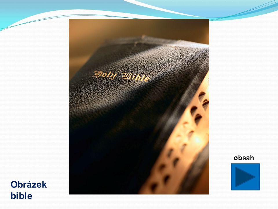 Metodické pokyny: - DUM má žáky seznámit se základním obsahem bible.