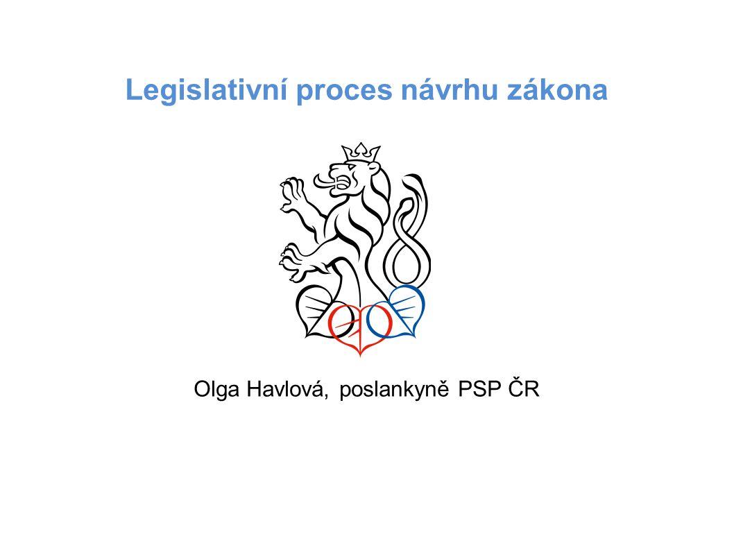 Legislativní proces návrhu zákona Olga Havlová, poslankyně PSP ČR