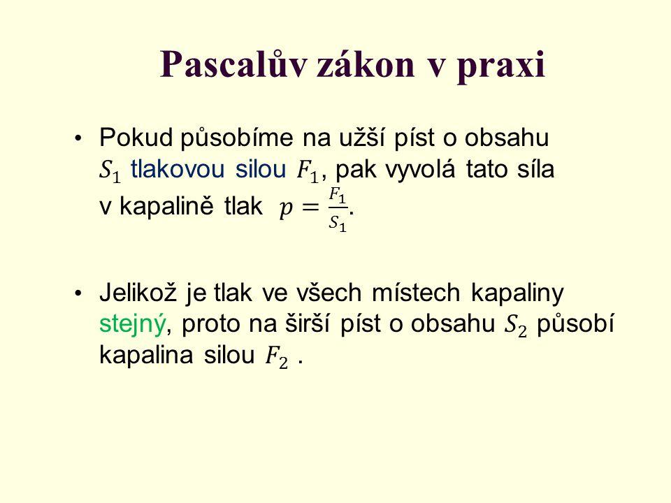 Pascalův zákon v praxi