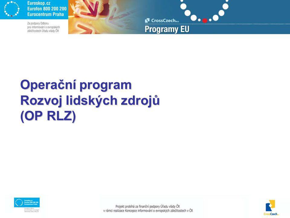 Operační program Rozvoj lidských zdrojů (OP RLZ)