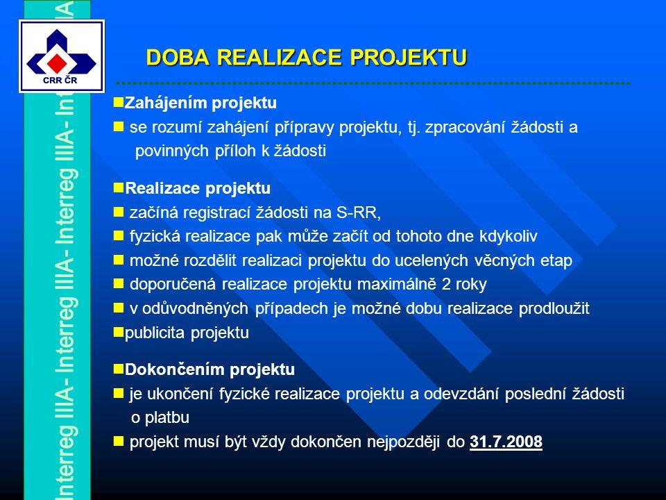 Zahájením projektu se rozumí zahájení přípravy projektu, tj.