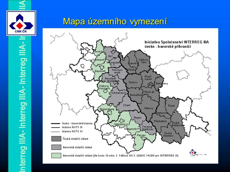 Mapa územního vymezení