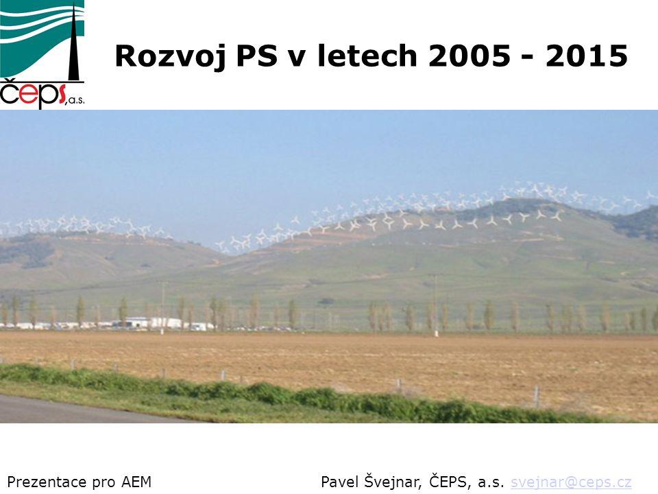 Pavel Švejnar, ČEPS, a.s. svejnar@ceps.czsvejnar@ceps.czPrezentace pro AEM Rozvoj PS v letech 2005 - 2015