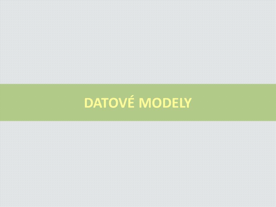 DATOVÉ MODELY