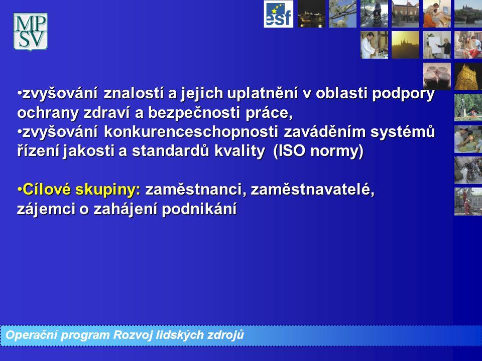 zvyšování znalostí a jejich uplatnění v oblasti podpory ochrany zdraví a bezpečnosti práce,zvyšování znalostí a jejich uplatnění v oblasti podpory och