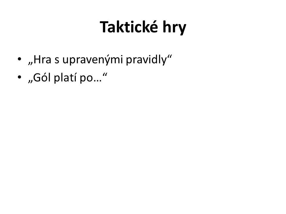 """Taktické hry """"Hra s upravenými pravidly """"Gól platí po…"""