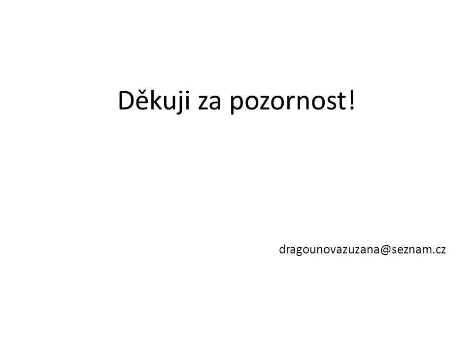 Děkuji za pozornost! dragounovazuzana@seznam.cz