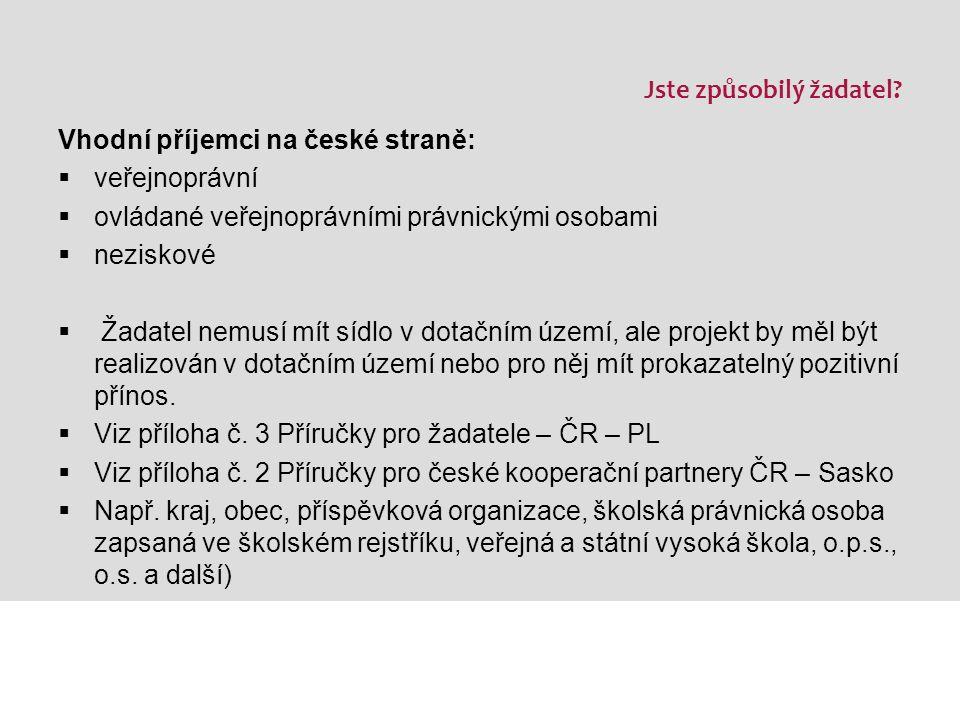 Podporované území ČR – PL