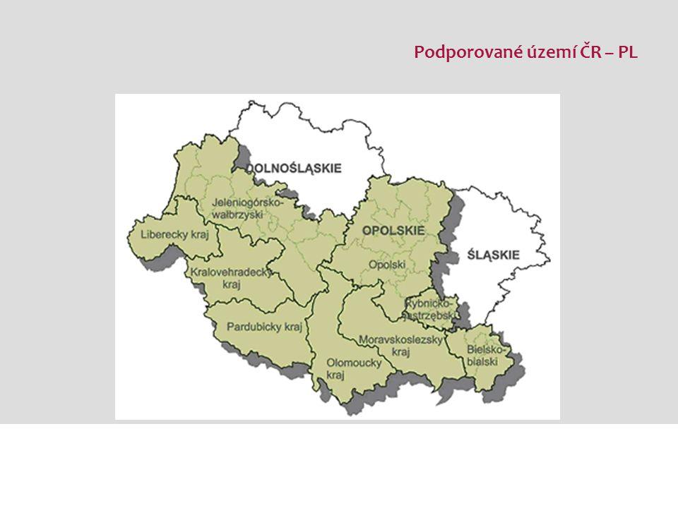 Podporované území ČR – Sasko